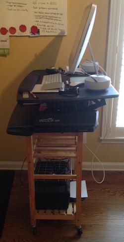 Varidesk Pro Standing Desk Side